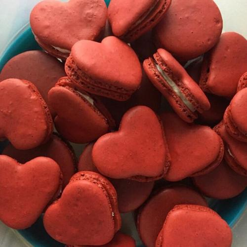 Heart French Macarons